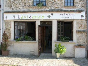 évidance restaurant
